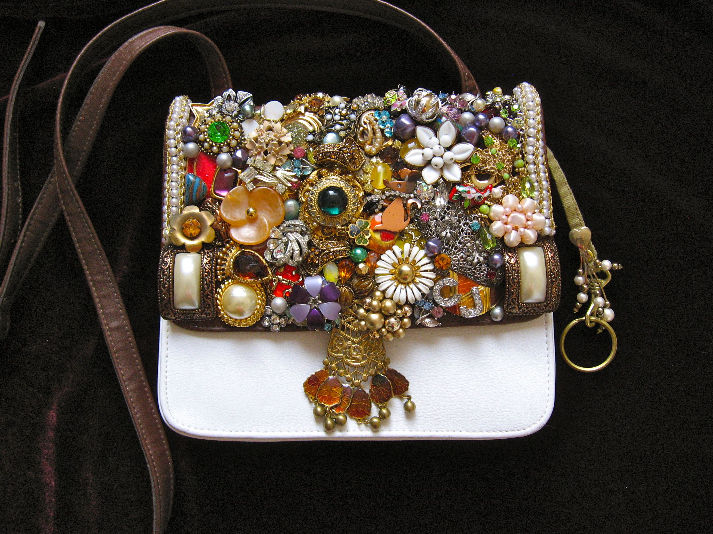 Daphne Vintage Jewelry Embellished Purse By Art Creations