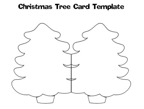 gabarit carte | Christmas tree template, Christmas tree cards