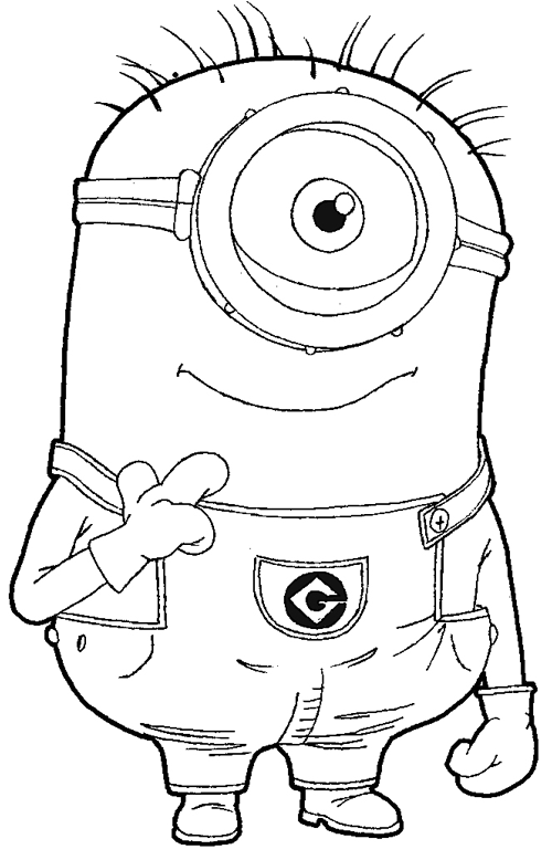 step step 097 how to draw kevin the minion from despicable me with easy step by - How To Draw Coloring Pages