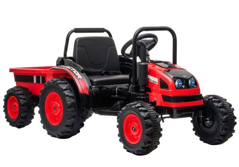 Traktor na Akumulator z Przyczepą HL388 Czerwony od Milydrob…