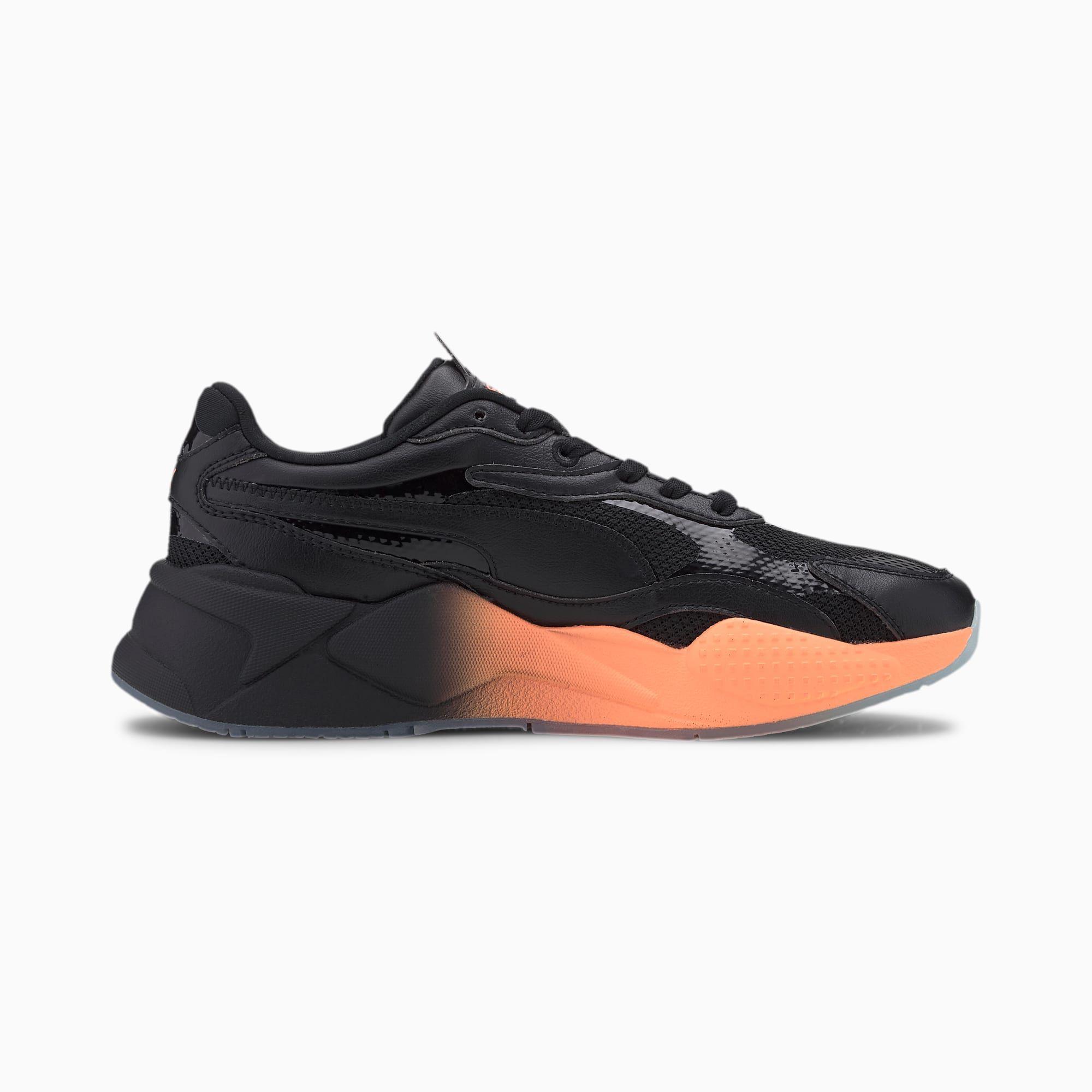 Photo of Scarpe da donna PUMA Rs-X con gradiente, nero / melone, misura 5.5, scarpe