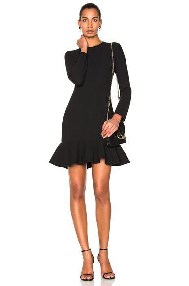 Shop For Victoria Victoria Beckham Flounce Hem Dress In Black At