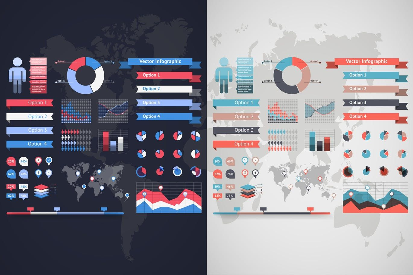 World map infographic set 4 ai eps infographics elements world map infographic set 4 ai eps gumiabroncs Gallery