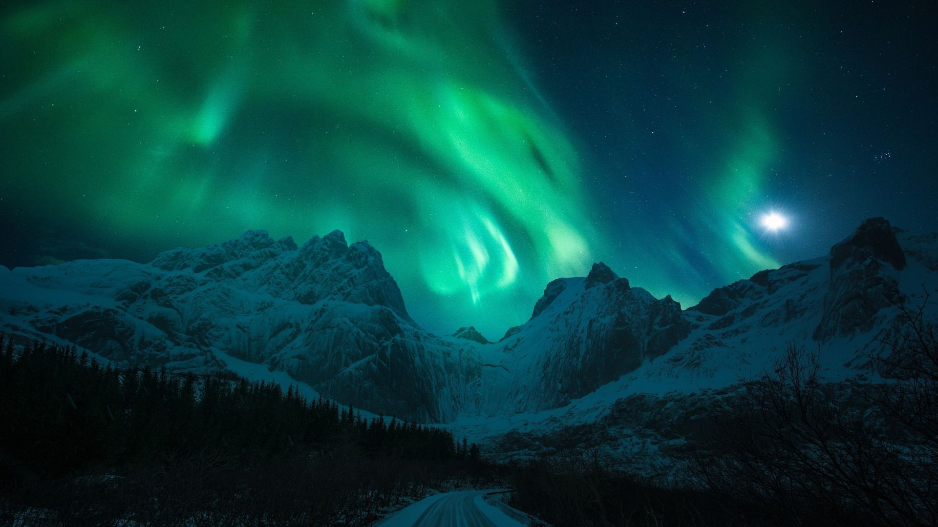 Aurora Northern Lights 1920x1080 Northern Lights Winter Background 4k Wallpapers For Pc