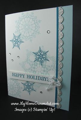 Clean and Simple Christmas card, with Snowflake Soiree.