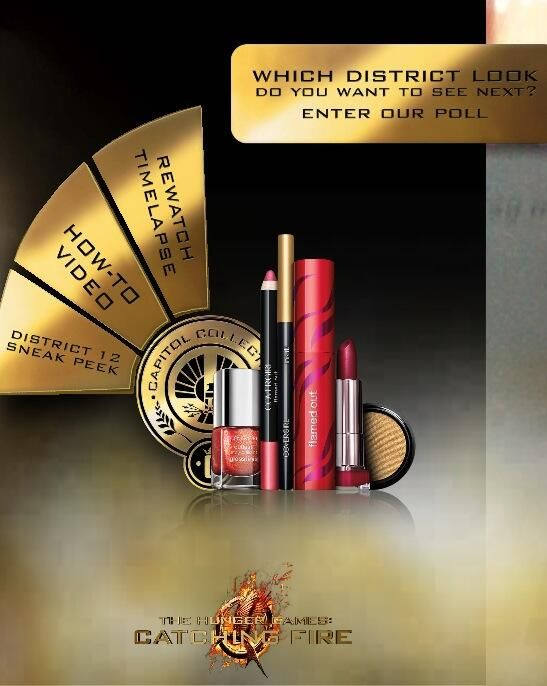 You can check out the VIDEO of the ad for the CoverGirl Catching Fire makeup range - get a sneak peek at what the campaign looks like