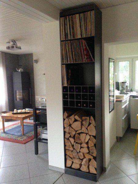 regal f r kaminholz wein und schallplatten firewood racks kaminholz regale pinterest. Black Bedroom Furniture Sets. Home Design Ideas