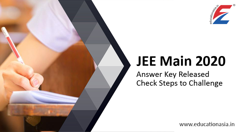 Jee Main 2020 Answer Key In 2020 Answer Keys Maine Answers