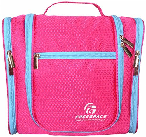 Freegrace® Top Premium Big Toiletry Bag with Hanging Hook -Travel Kit  Organizer Looking for The Highest Quality Toiletry Bag with Perfect Size  and ... 59a84934d97af