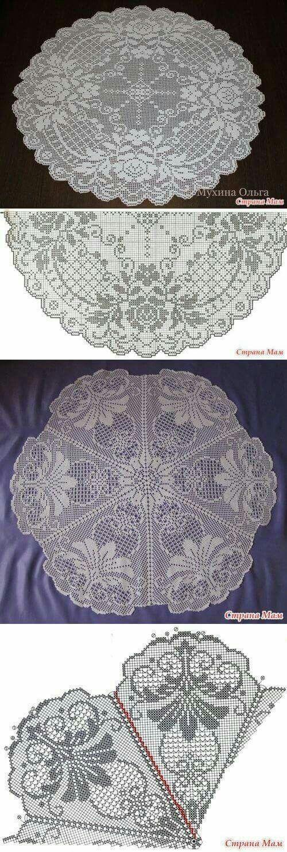 Tischdecken | Great Crochet | Pinterest | Tischdecken ...