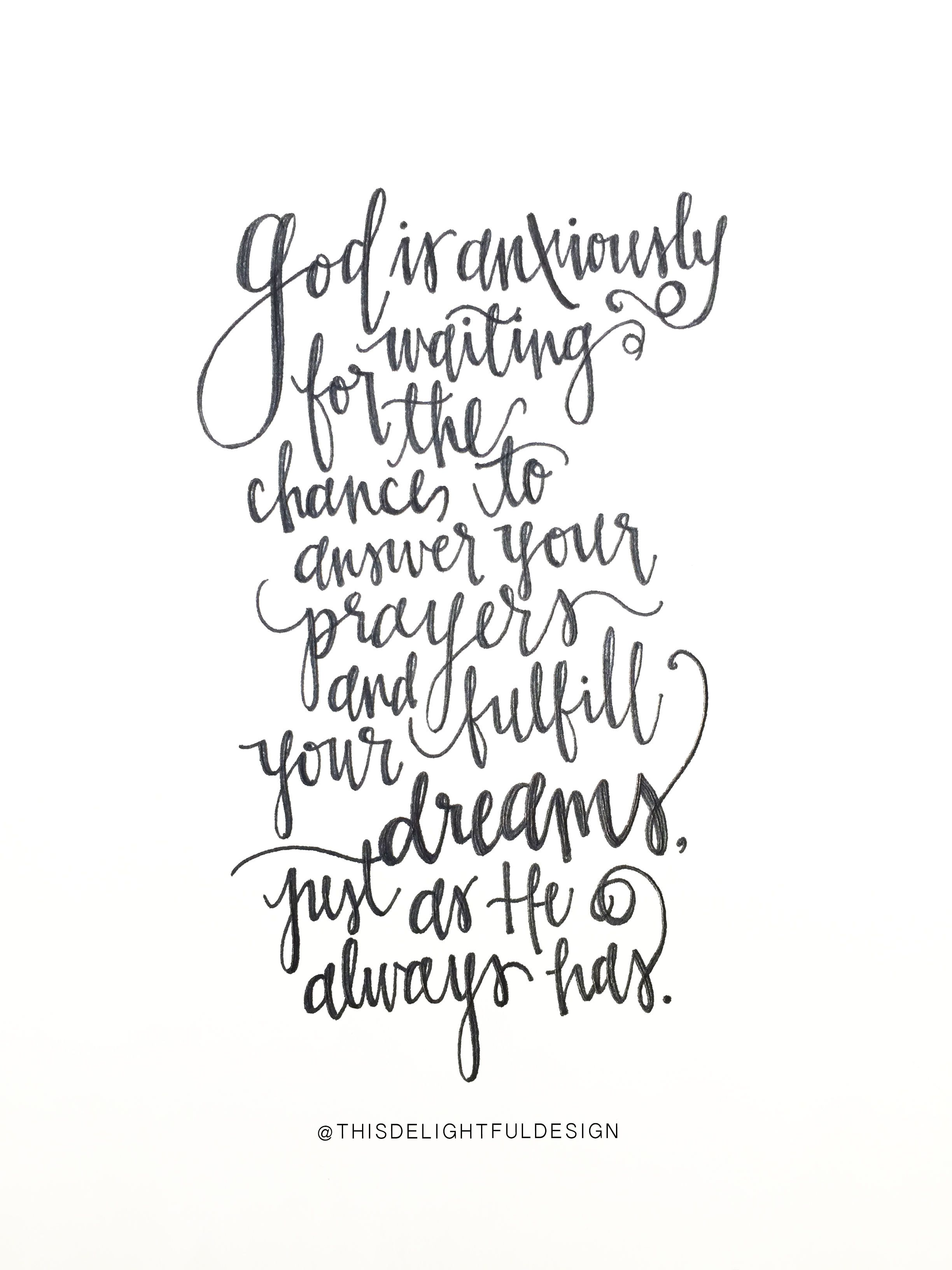 God is anxiously waiting for the chance to answer your