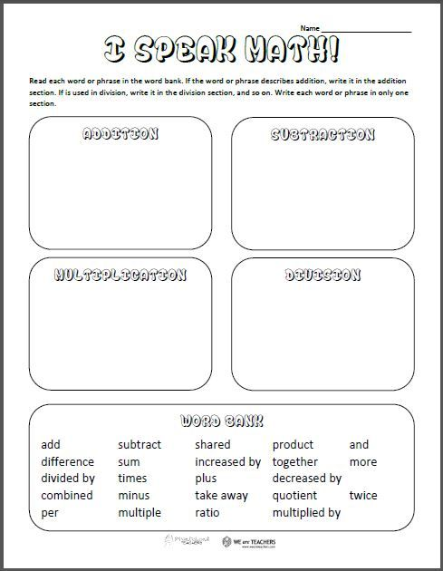 How Saying Times When Teaching Multiplication Confuses Students Math Vocabulary Vocabulary Worksheets Printable Math Worksheets