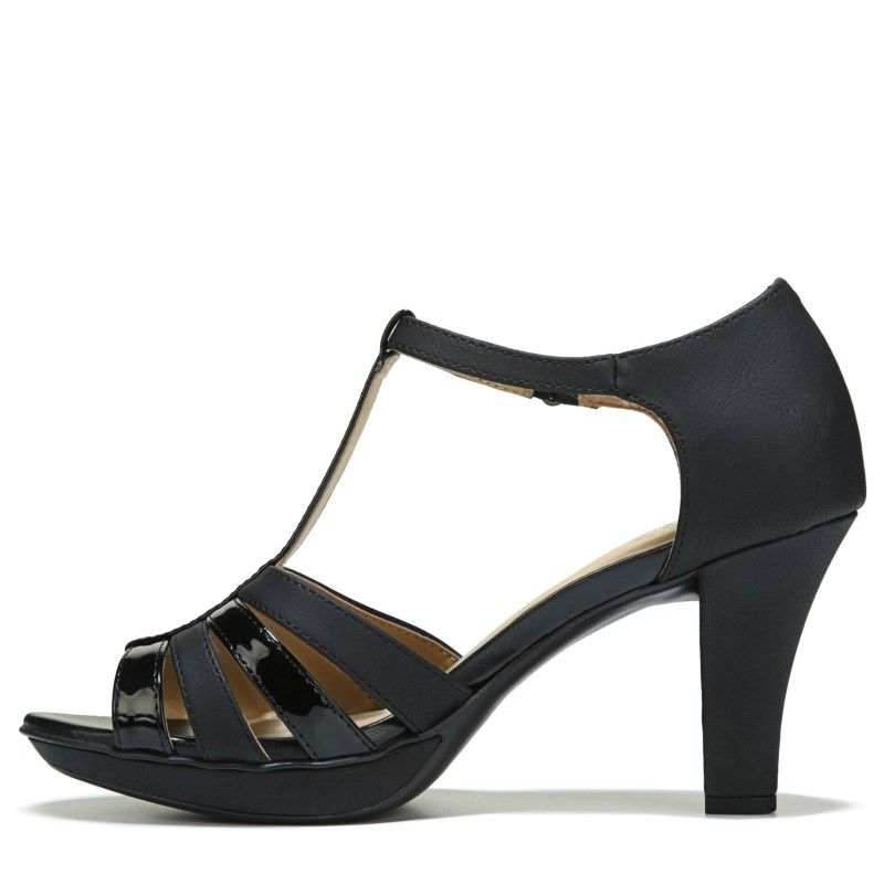 10a622c32e5 Naturalizer Women s Delight Pump Sandals (Black Mixed Material) in ...