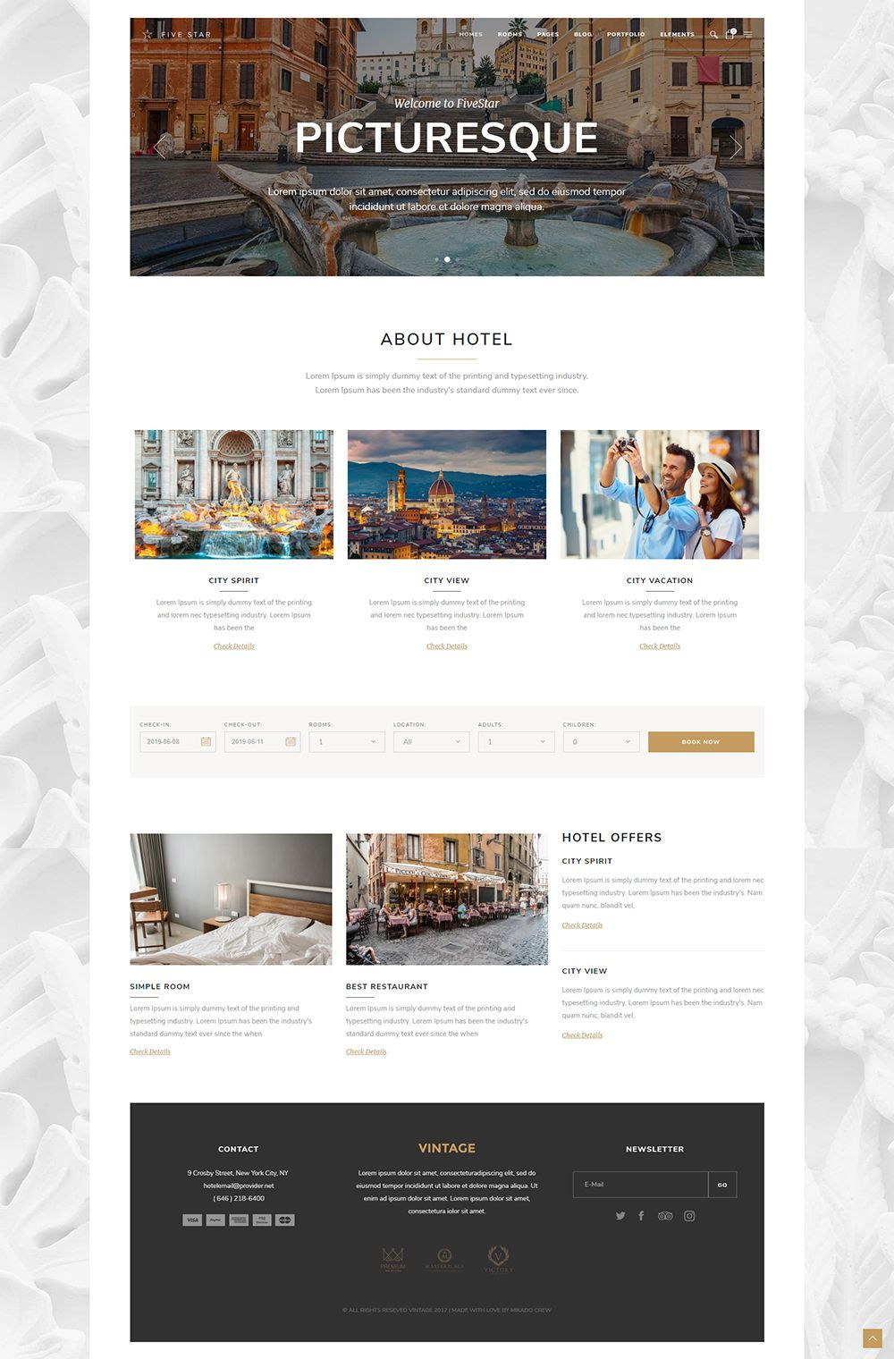 Having a booking functionality on a travel website is a must! Check out FiveStar, a superb hotel booking WordPress theme. #webdesign #design #layout #template #uxdesign #uidesign #travel #travelagency #responsive #wordpresslove #webdesigninspiration #responsivedesign #webdesigntrends #booking #tours #holidays #vacation #touroperator