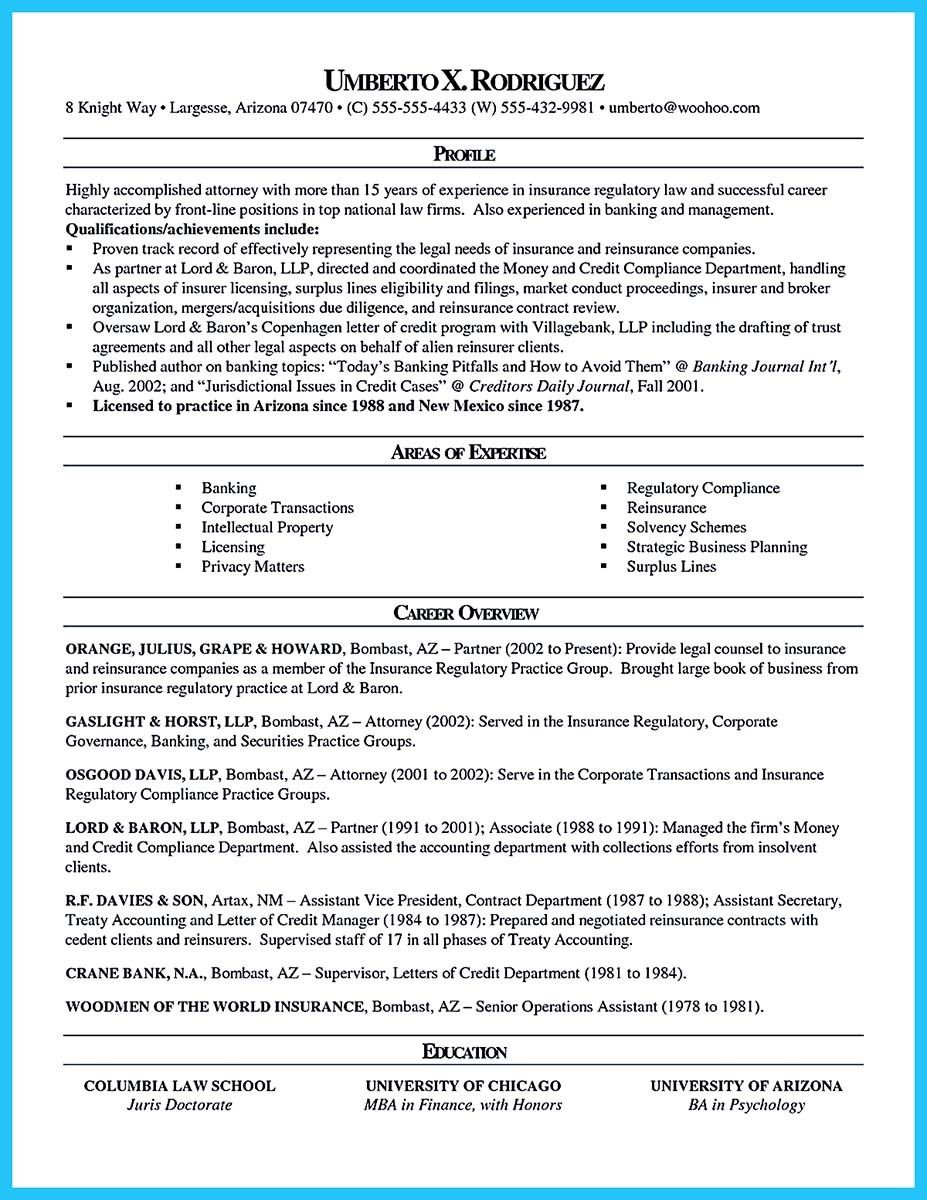 cool arranging a great attorney resume sample