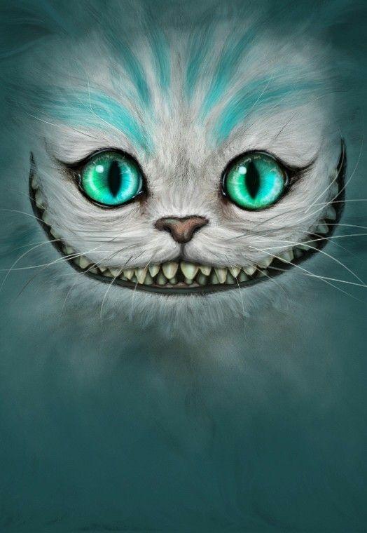 Cheshire Cat Face Wallpaper Magic Phone Alice In Wonderland