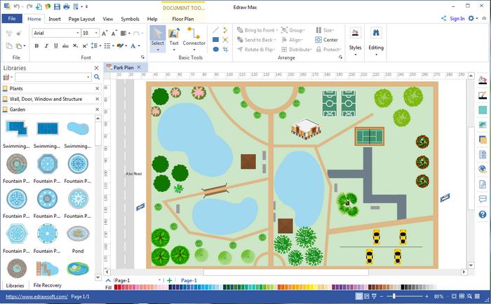Garden Design Visio | Garden design software, Free ...