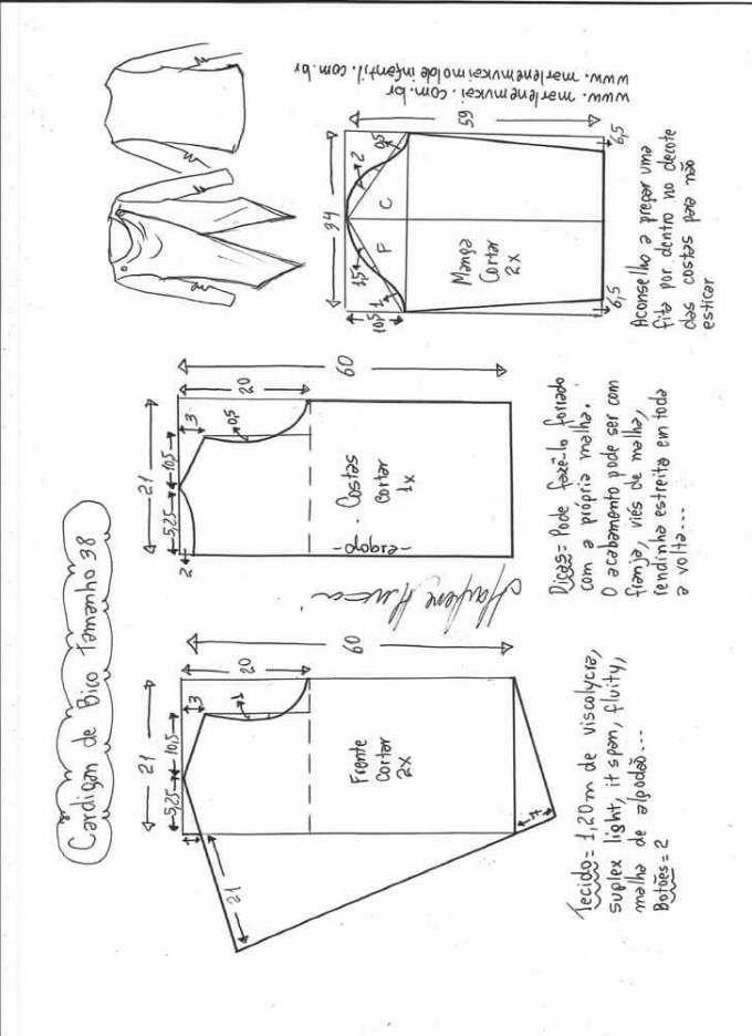 Patrón cardigan femenino de picos   Patrones   Pinterest   Cardigan ...