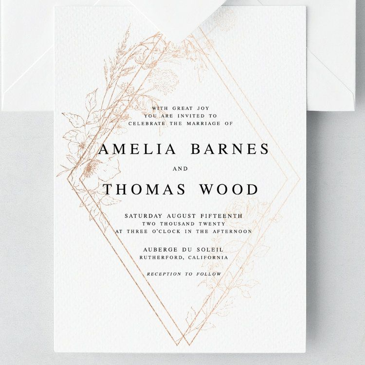With Great Joy You Are Invited To Celebrate The Marriage Of Amelia Barnes And Thomas Wood Reception To Follow