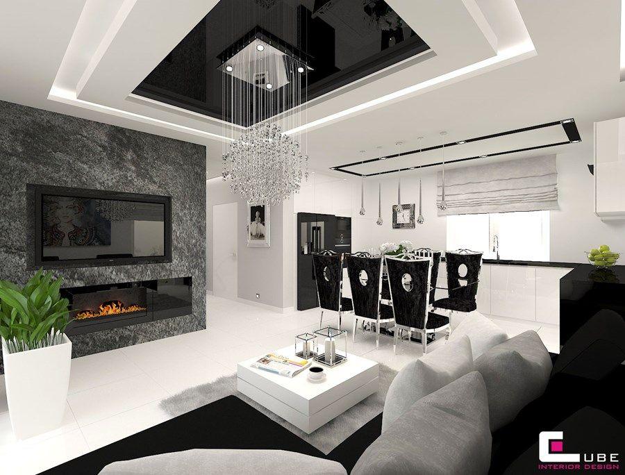 Znalezione Obrazy Dla Zapytania Kuchnie Glamour Biale False Ceiling Design Dream House Patio Design