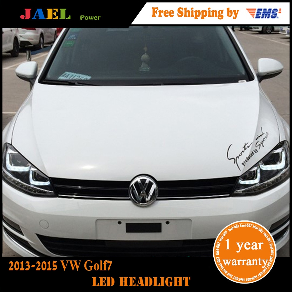 548.00$  Buy now - http://ali2h8.worldwells.pw/go.php?t=32701614536 -  Jael Head Lamp VW Golf 7 Headlights 2013-2015 Year VW Golf7 Mk7 LED Headlight DRL Bi Xenon Lens High Low Beam Parking Fog Lamp