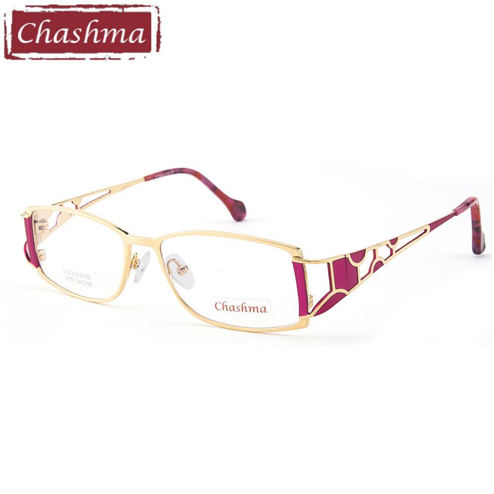 e57ab2e27c0 Chashma Brand Designer Titanium Female Frame Lentes Opticos Gafas Top  Quality Eyeglasses Women Spectacles for Progressive