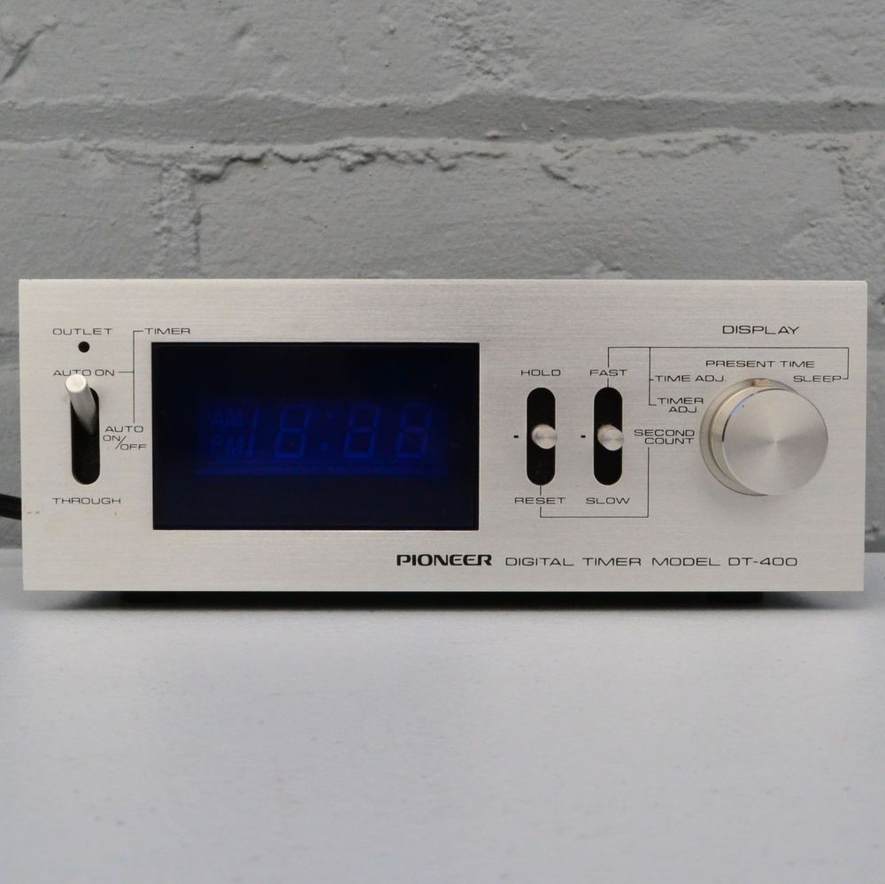 PIONEER DT-550 VINTAGE 80S AUDIO VINTAGE TIMER GREAT