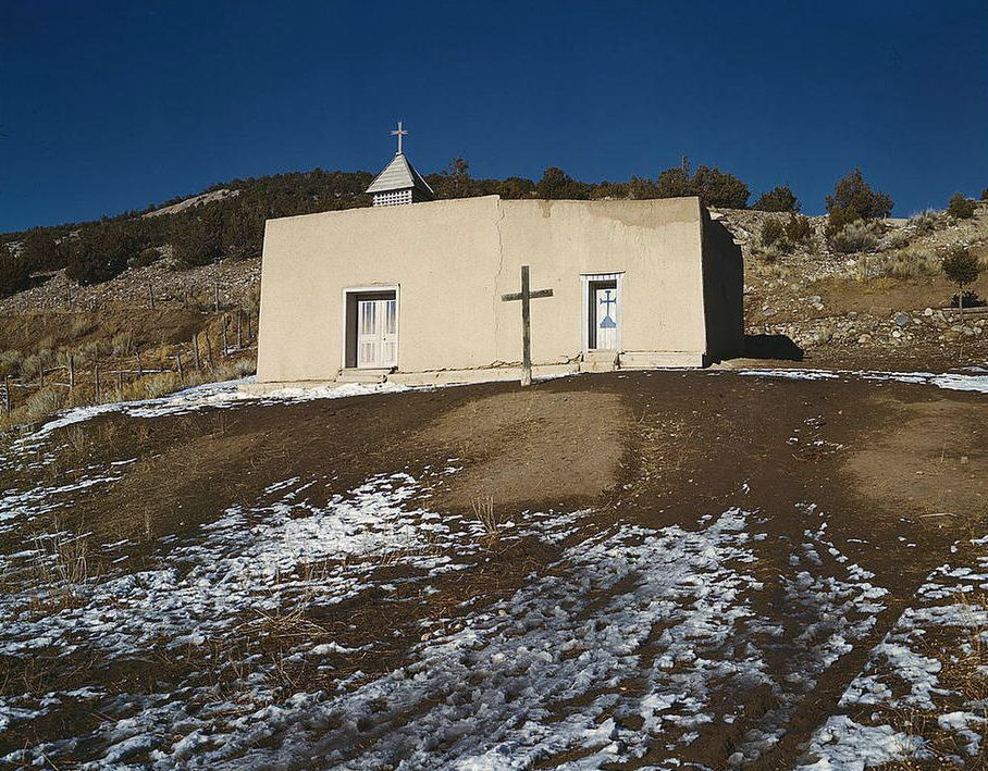 Chapel, Vadito, (near Penasco), New Mexico, USA Spring 1943