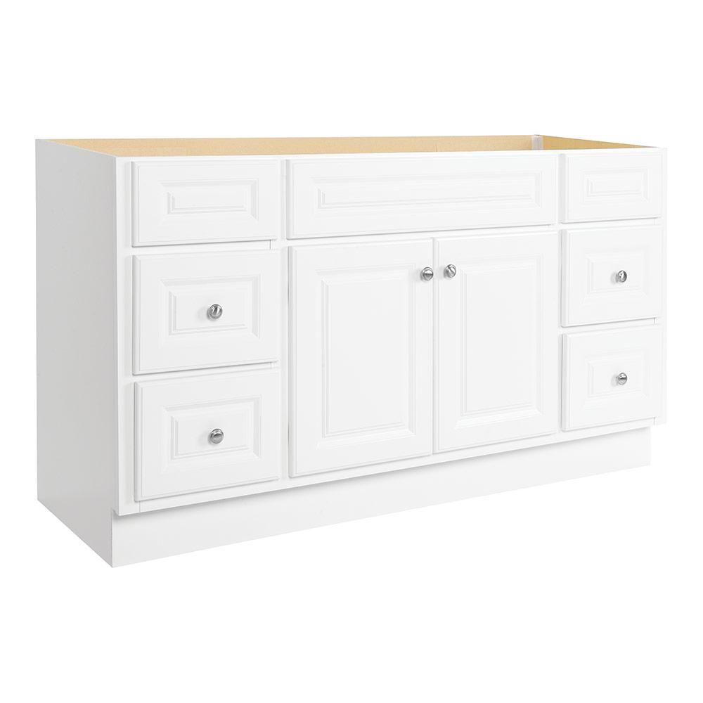 Glacier Bay Hampton 60 In W X 21 In D X 33 1 2 In H Bathroom Vanity Cabinet Only In White Hwh60dy The Home Depot In 2021 Home Depot Bathroom Vanity White