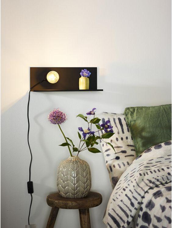 Applique métal noir LUCIDE Sebo 1 lumière(s) | Lampe de