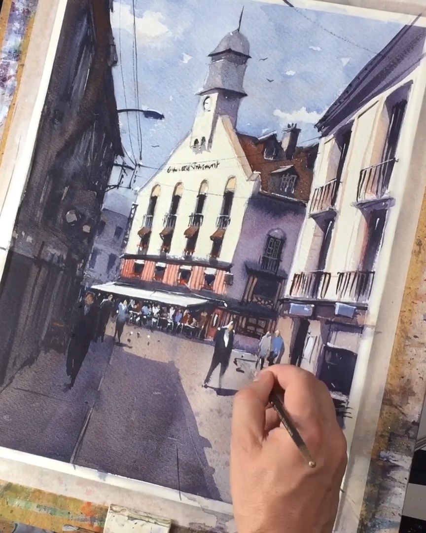 Watercolor Buildings Demonstration &; Cityscape Speedpainting Video Watercolor Buildings Demonstration &; Cityscape Speedpainting Video Tyl Destoop | French Watercolor Paintings tyldestoop Cityscapes Here&;s my speedpaint watercolor demonstration […]  #Buildings #Cityscape #demonstration #landscape painting videos #Speedpainting #video #Watercolor