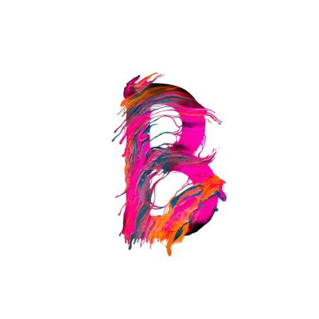 Letter B Watercolor Paint Name Monogram Notebook: 200 pages, College Ruled Composition Notebook (Paperback), White