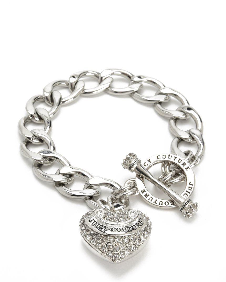 Pave Banner Heart Starter Bracelet Juicy Couture Juicy Couture Bracelet Gold Charm Bracelet Fashion Jewelry