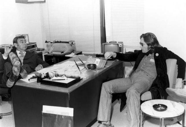 John Lennon hanging with pal Howard Kosell. I cannot imagine their conversations.