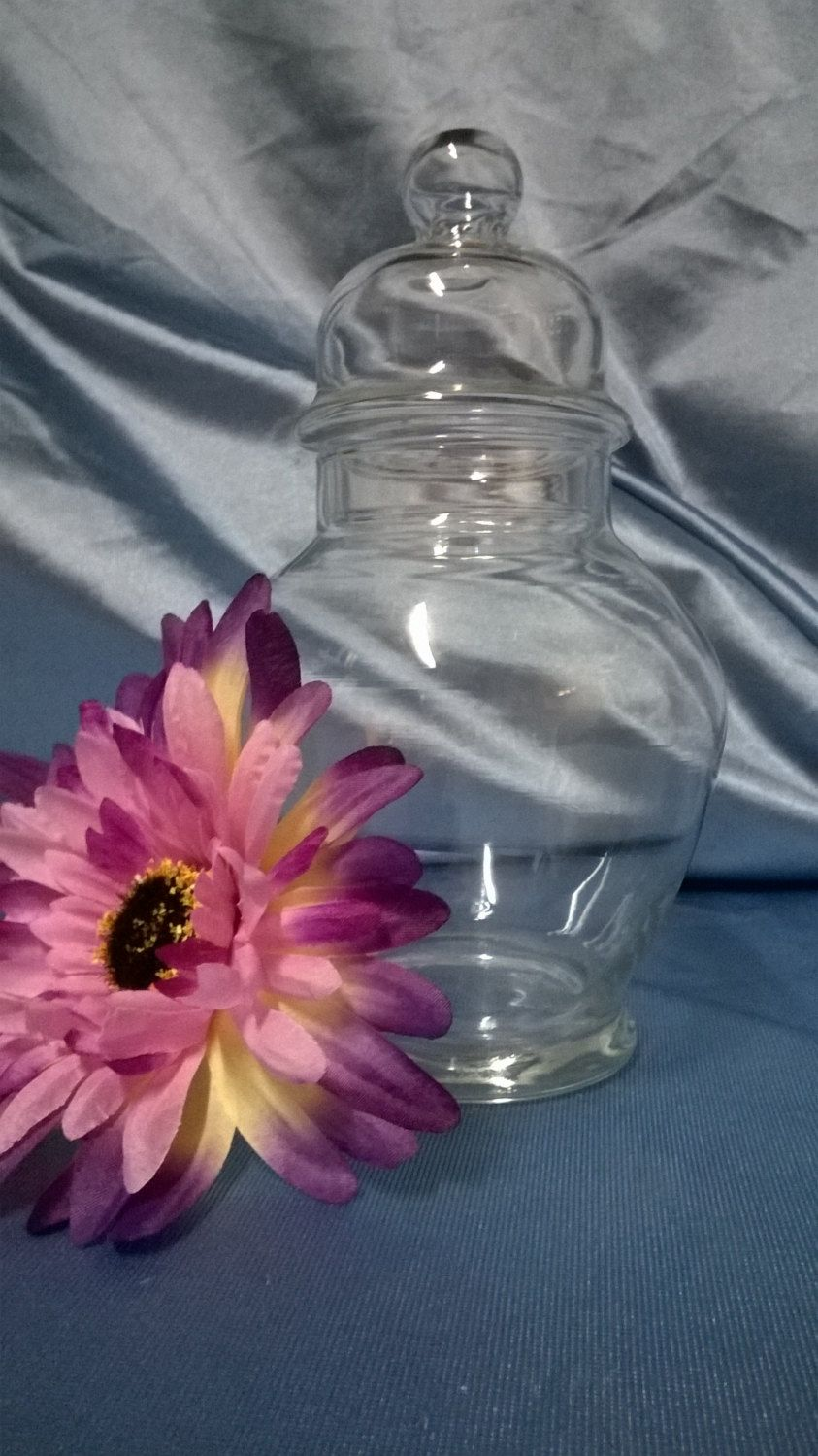 Free Shipping....Apothecary Jar candy buffet by GlassyBlue on Etsy