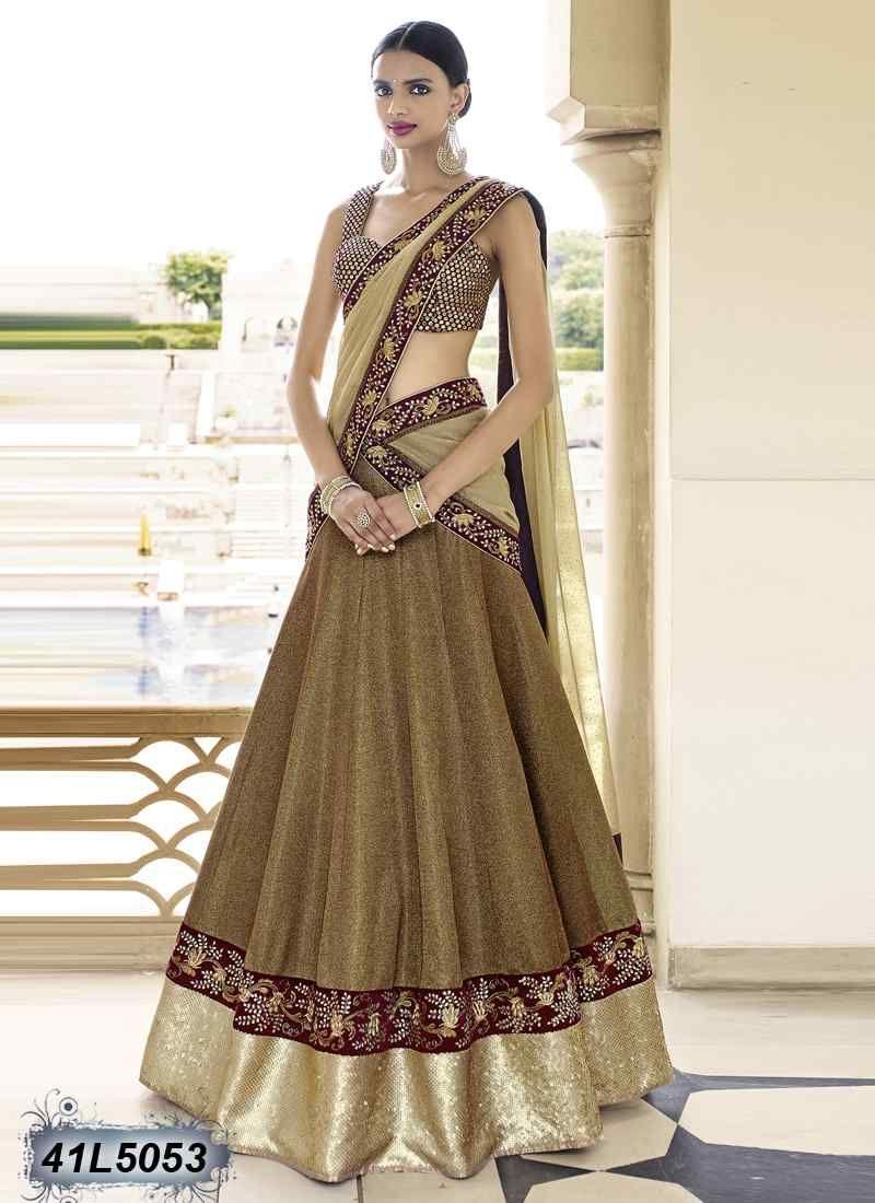 b42952f9c8 Ravishing Copper Colour Lycra Lehenga Choli | Enriching Heavy ...
