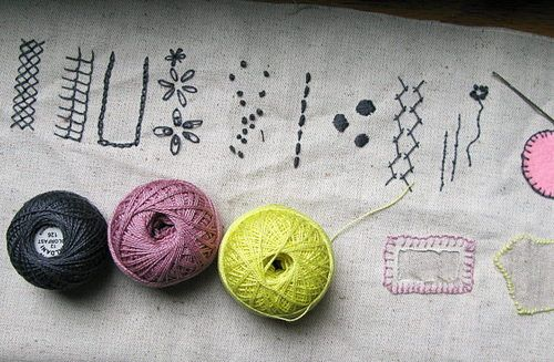 fun embroidery stitches
