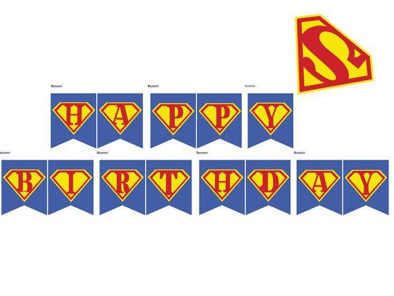 superhero banner superhero birthday