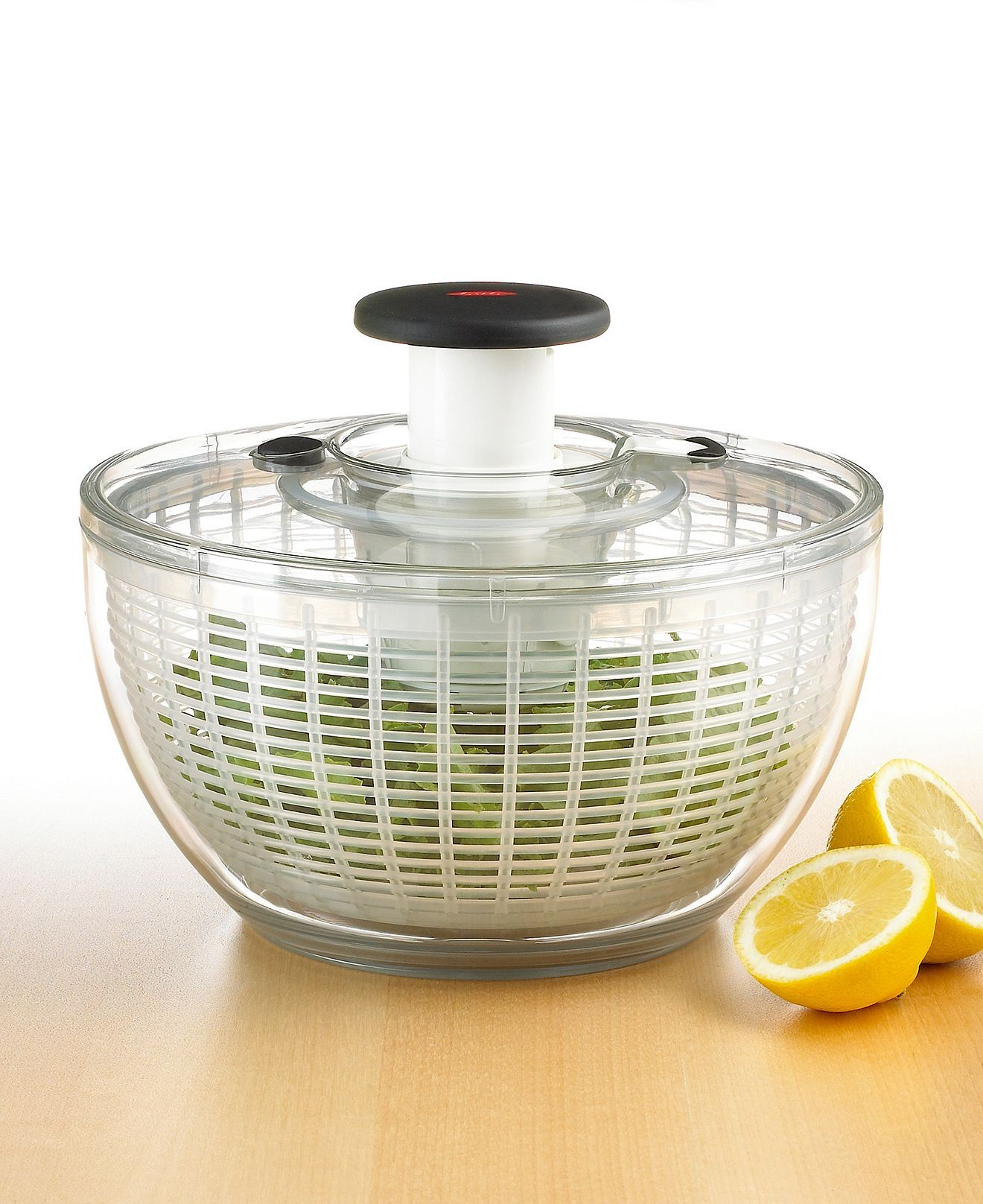 oxo salad spinner how to use