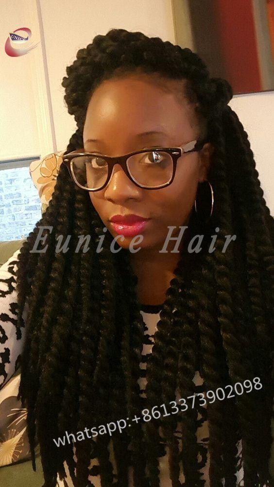 Fake Hair Havana Twist African Hair Braiding Curly Crochet Hair