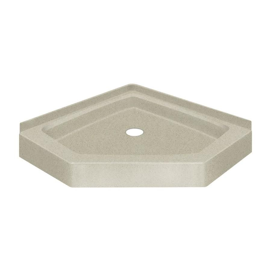 Transolid Decor 38 In L X 38 In W Green Solid Surface Neo Angle