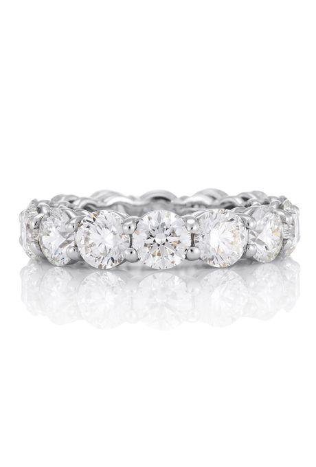 Brides De Beers This Simple And Elegant Full Platinum Band Is Debeers Enement Rings