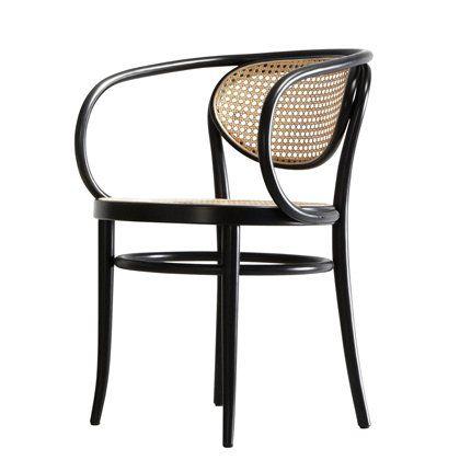Chaise Thonet chaise thonet, thonet, chaise 210 r, en cannage beige et pied noirs