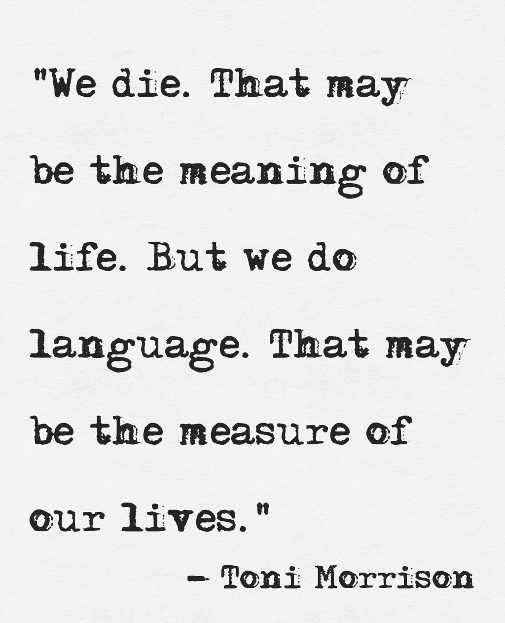 Philosophers Quotes On The Meaning Of Life We Didthat May Be The Meaning Of Lifebut We Do Languagethat