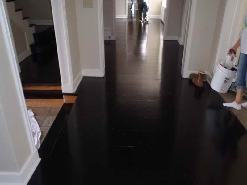 Black Hardwood Floor, Very Nice Decorative Look at a white wall - Black Hardwood Floor, Very Nice Decorative Look At A White Wall