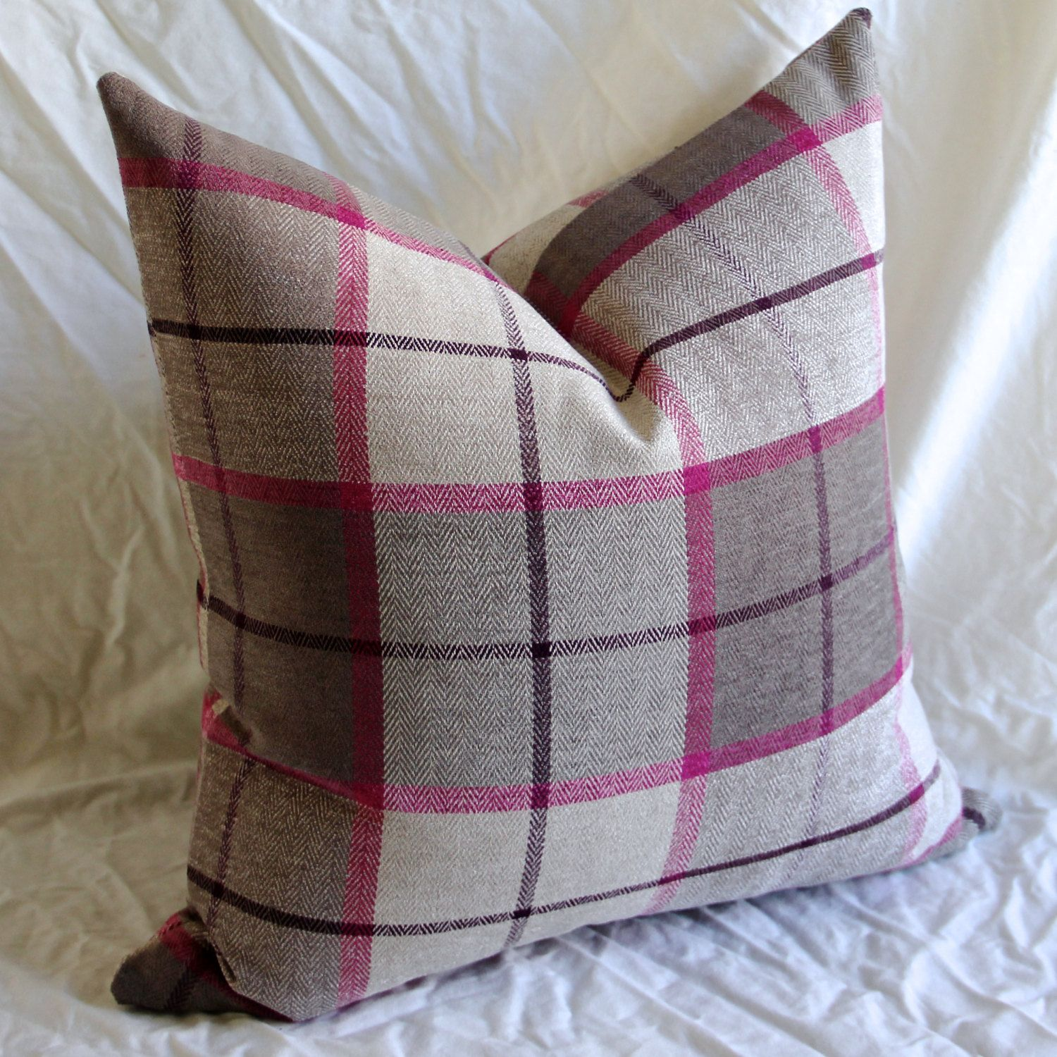 Plaid Cushion Cover - Plaid Pillow Cover - Tartan Cushion Cover ...