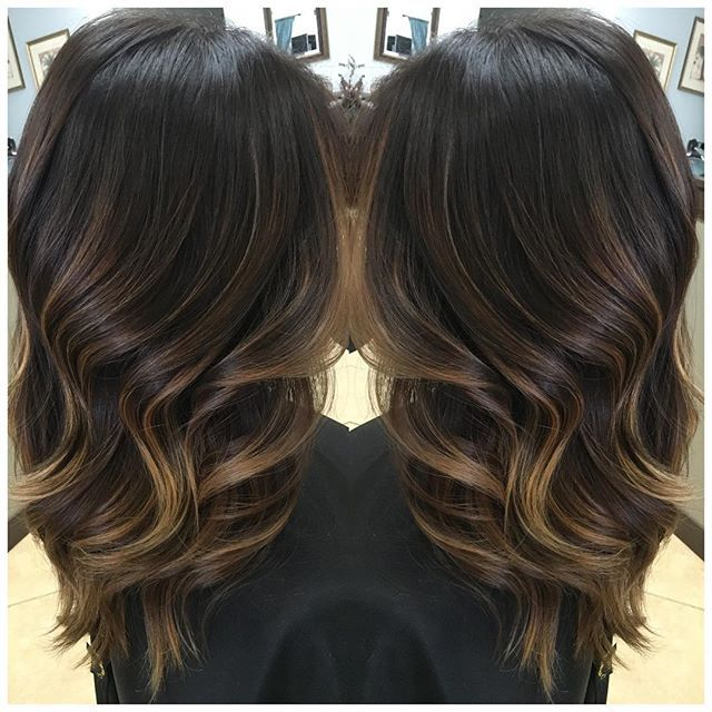 Winter Balayage Rich Brown Base With Subtle Lightness With