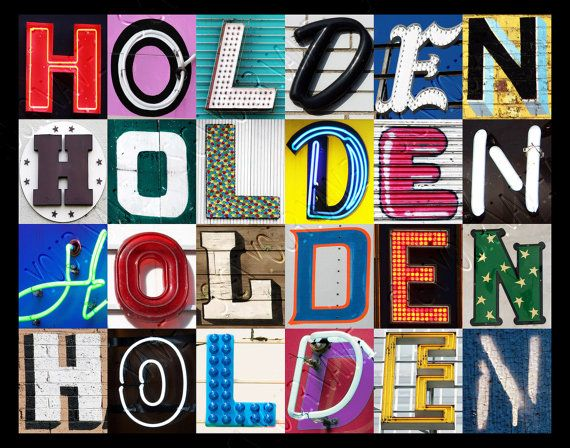 Personalized Poster featuring HOLDEN showcased in letters from signs  #holden #posters #popart #wallart #typography #names #gifts