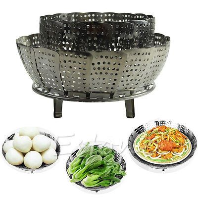 Stainless-Steel-Folding-Steamer-Steam-Vegetable-Basket-Mesh-Cooker-Expandable