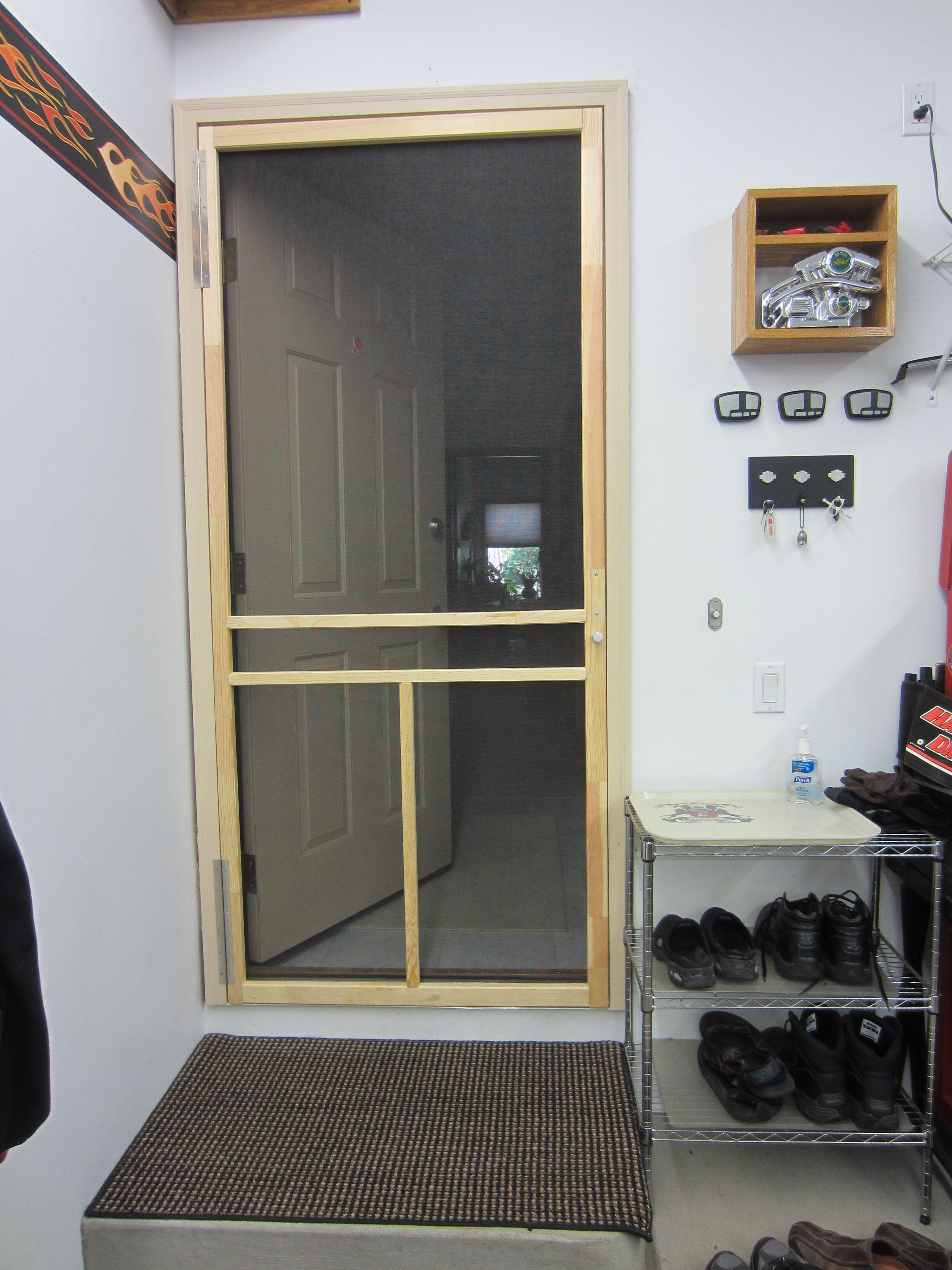 Screen Door Between House And Garage Provides Energy Savings By